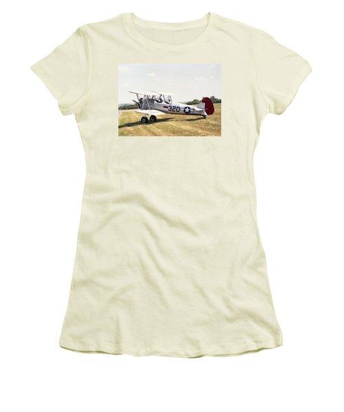 Boeing Stearman Women's T-Shirt (Athletic Fit)