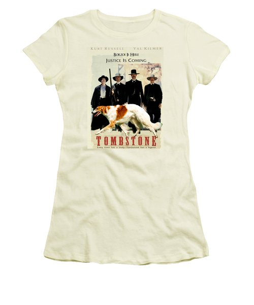 Borzoi Art - Tombstone Movie Poster Women's T-Shirt (Athletic Fit)
