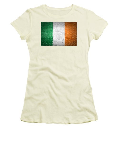 Brick Wall Ireland Women's T-Shirt (Athletic Fit)