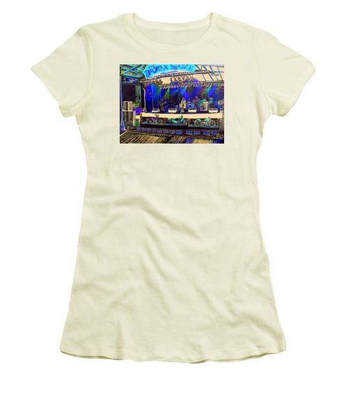 Broadband At The Broken Spoke Saloon Women's T-Shirt (Junior Cut) by Albert Puskaric