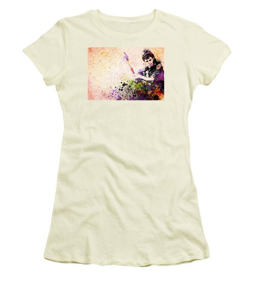 Bruce Springsteen Splats 2 Women's T-Shirt (Junior Cut) by Bekim Art