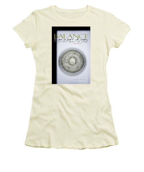 Women's T-Shirt (Junior Cut) featuring the photograph Bubbles Balance Bubbles by Vicki Ferrari