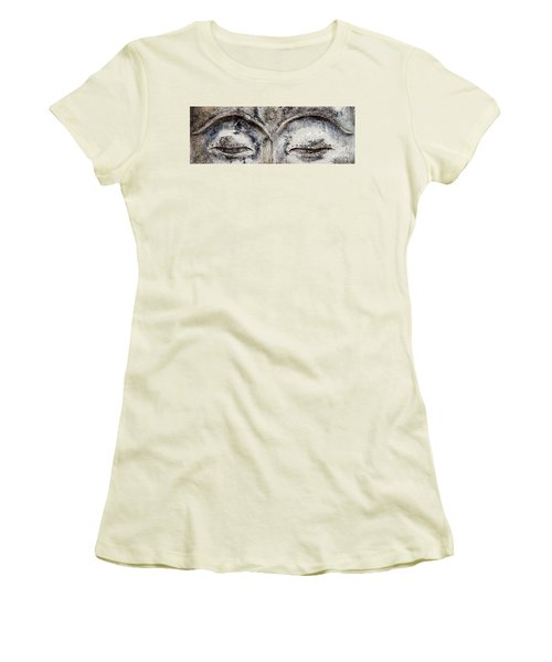 Women's T-Shirt (Junior Cut) featuring the photograph Buddha Eyes by Roselynne Broussard