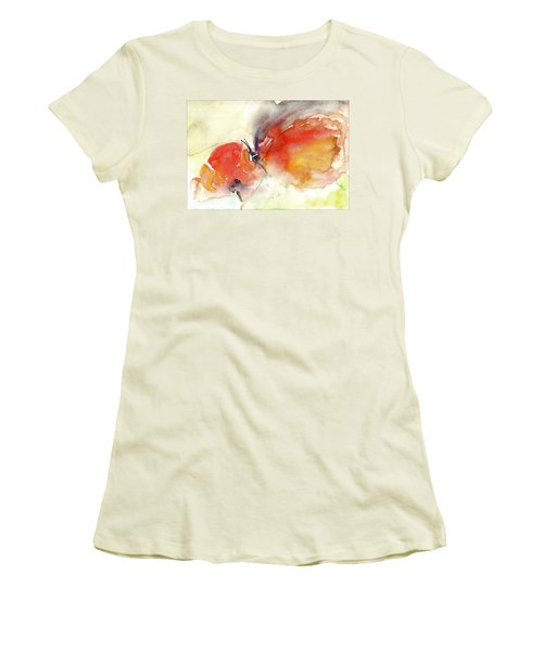 Women's T-Shirt (Junior Cut) featuring the painting Butterfly by Faruk Koksal