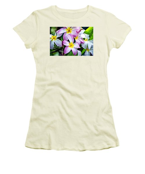 Women's T-Shirt (Junior Cut) featuring the photograph Butterfly Flowers by Thomas Woolworth