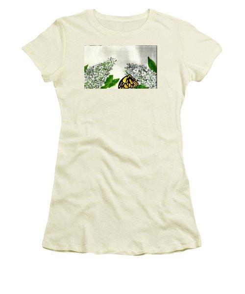 Butterfly Women's T-Shirt (Junior Cut) by Francine Heykoop