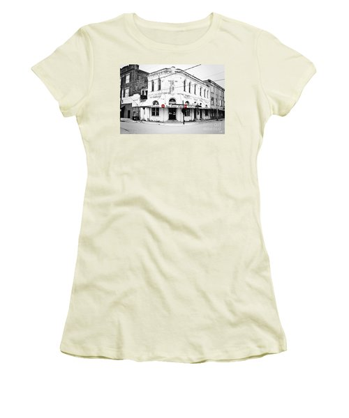 Cajun Corner Cafe Women's T-Shirt (Junior Cut) by Scott Pellegrin