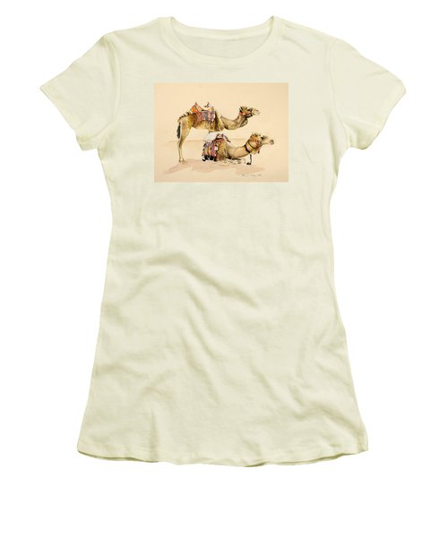 Camels From Petra Women's T-Shirt (Athletic Fit)