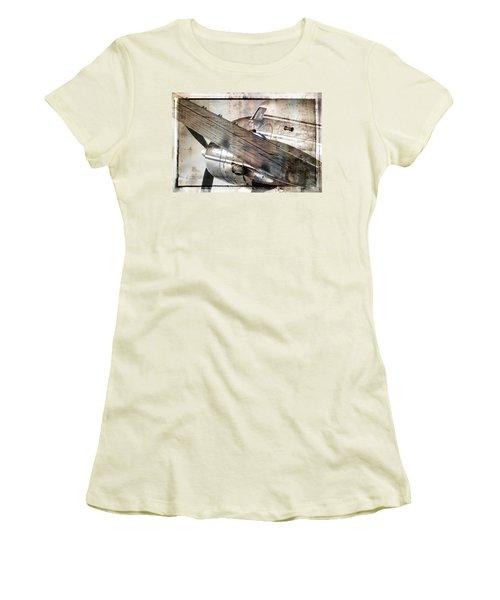 Women's T-Shirt (Junior Cut) featuring the photograph Captain's Flight by Steven Bateson