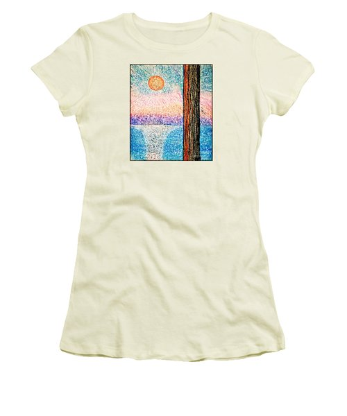 Carmel Highlands Sunset Women's T-Shirt (Junior Cut) by Joseph J Stevens