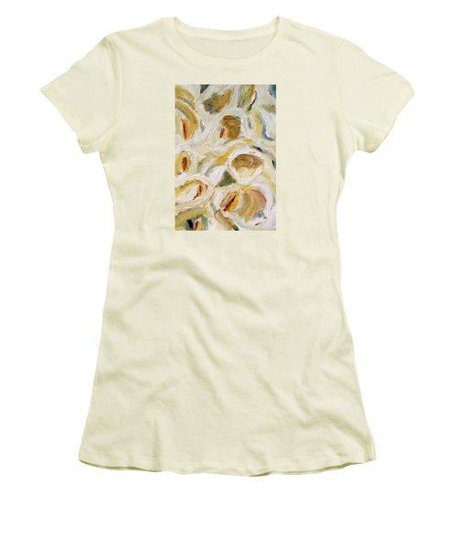 Women's T-Shirt (Junior Cut) featuring the painting Cascade Of Calla Lillies by Michael Helfen