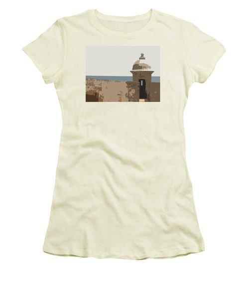 Guard Post Women's T-Shirt (Athletic Fit)