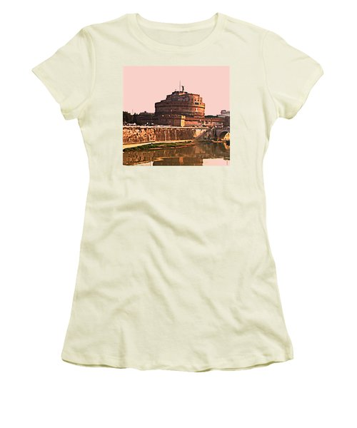 Women's T-Shirt (Junior Cut) featuring the photograph Castel Sant 'angelo by Brian Reaves