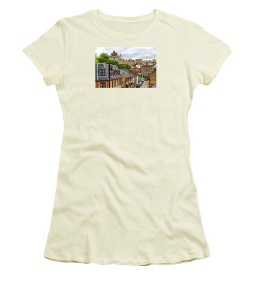 Castle Above The Town Women's T-Shirt (Junior Cut) by Tim Stanley