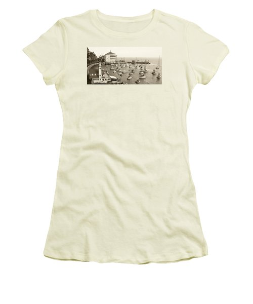 Catalina Island. Avalon Women's T-Shirt (Junior Cut) by Ben and Raisa Gertsberg