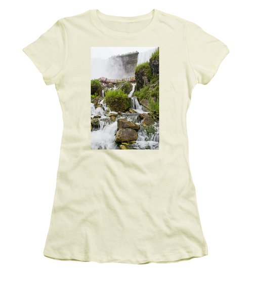 Cave Of The Winds At Niagara Falls Women's T-Shirt (Athletic Fit)
