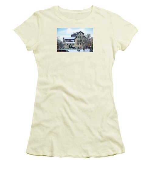 Cedarburg Mill Women's T-Shirt (Junior Cut) by Susan  McMenamin