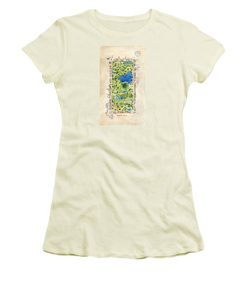Central Park And All That Surrounds It Women's T-Shirt (Junior Cut) by AFineLyne