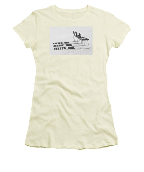 Chairs In The Sun Women's T-Shirt (Athletic Fit)
