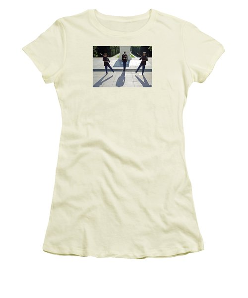 Women's T-Shirt (Junior Cut) featuring the photograph Changing Of The Guard by Cora Wandel