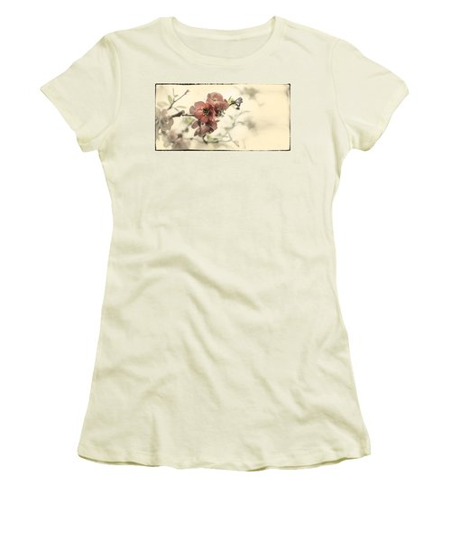 Women's T-Shirt (Junior Cut) featuring the photograph Cherry Blossoms by Peter v Quenter