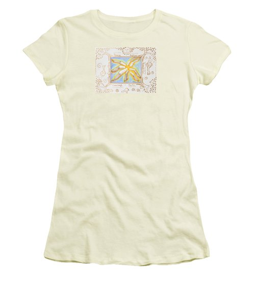 Cherubim Women's T-Shirt (Junior Cut) by Cassie Sears