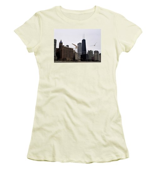 Chicago Birds 2 Women's T-Shirt (Junior Cut) by Verana Stark