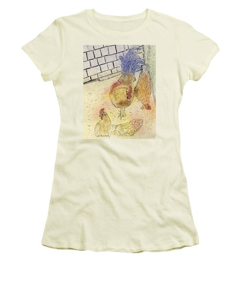 Chickens At Pei Women's T-Shirt (Athletic Fit)