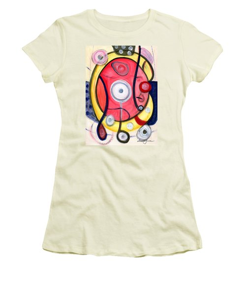 Women's T-Shirt (Junior Cut) featuring the painting Circle For Lovers by Stephen Lucas
