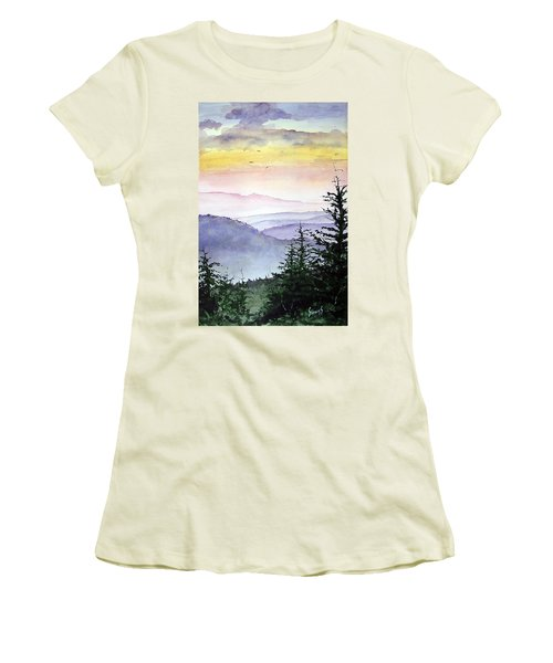Clear Mountain Morning II Women's T-Shirt (Athletic Fit)