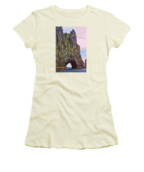Coastal Rock Open Arch Women's T-Shirt (Athletic Fit)
