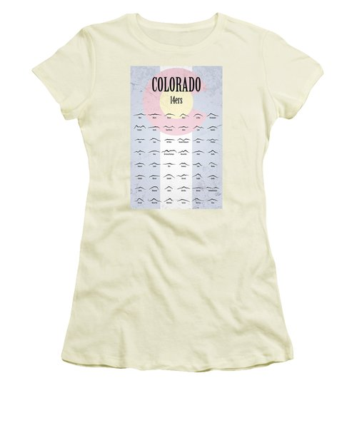 Women's T-Shirt (Athletic Fit) featuring the photograph Colorado 14ers Poster by Aaron Spong