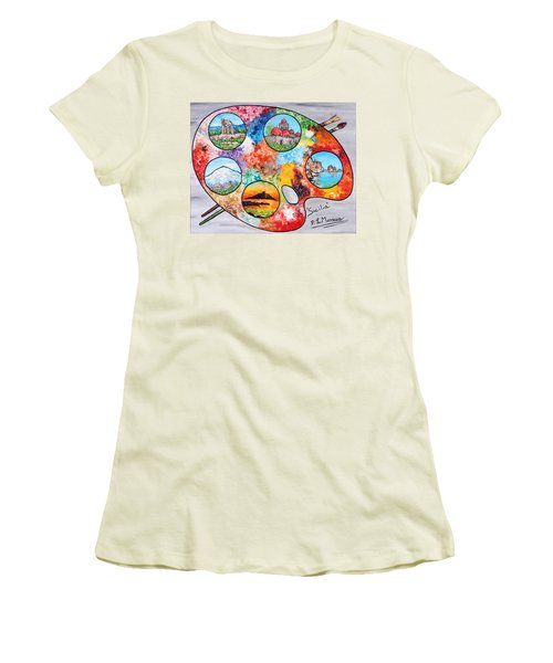 Colori Di Sicilia Women's T-Shirt (Athletic Fit)
