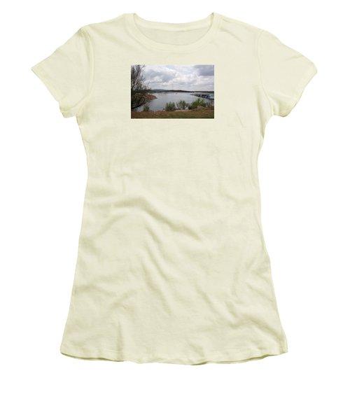 Women's T-Shirt (Junior Cut) featuring the photograph Conchas Dam by Sheri Keith