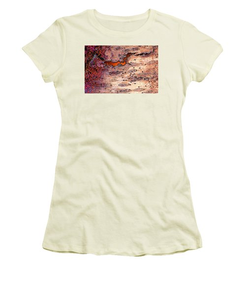 Women's T-Shirt (Junior Cut) featuring the photograph Copper Landscape by Stephanie Grant