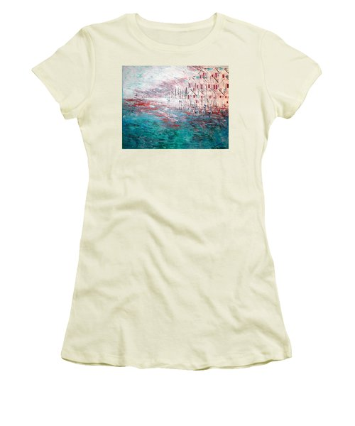 Cottages On The Bay  Women's T-Shirt (Junior Cut) by George Riney