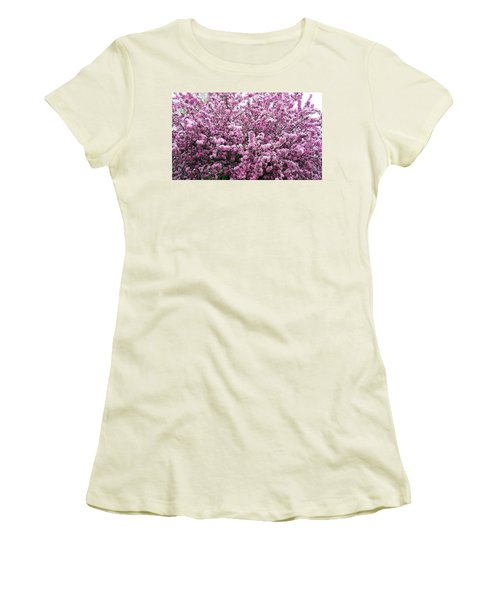 Crab Apple Tree Women's T-Shirt (Junior Cut) by Aimee L Maher Photography and Art Visit ALMGallerydotcom