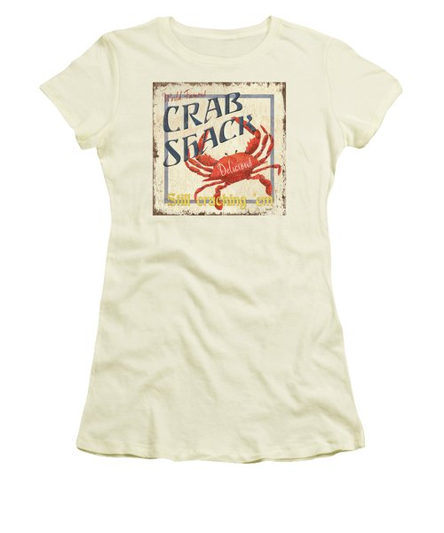 Crab Shack Women's T-Shirt (Athletic Fit)