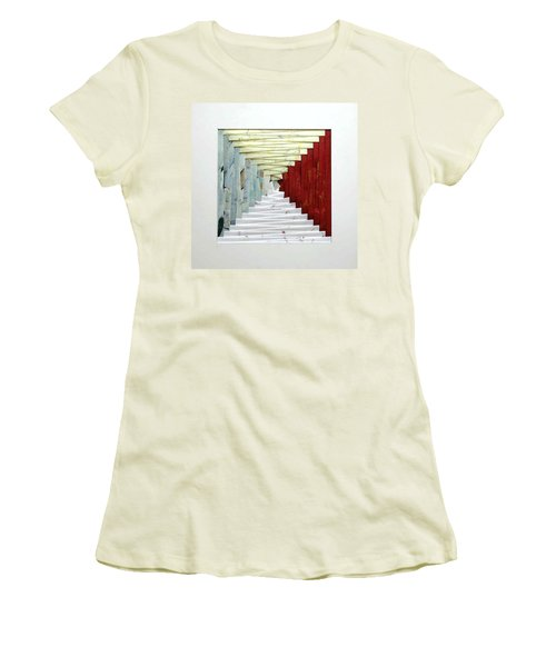 Crooked Staircase Women's T-Shirt (Junior Cut) by Ron Davidson