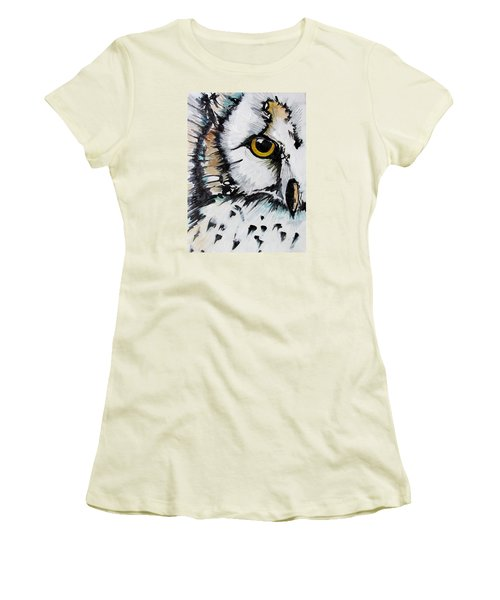 Women's T-Shirt (Junior Cut) featuring the painting Crown by Nicole Gaitan