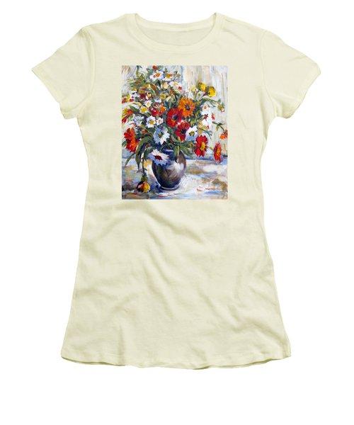 Daisies Women's T-Shirt (Junior Cut) by Alexandra Maria Ethlyn Cheshire