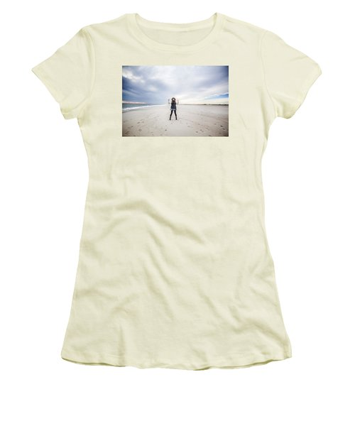 Dance At The Beach Women's T-Shirt (Athletic Fit)