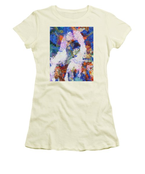 Women's T-Shirt (Junior Cut) featuring the painting Dance Of Fools by Joe Misrasi