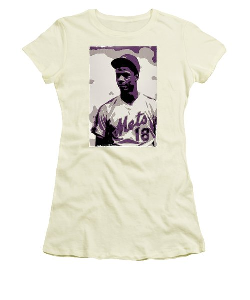 Darryl Strawberry Poster Art Women's T-Shirt (Athletic Fit)