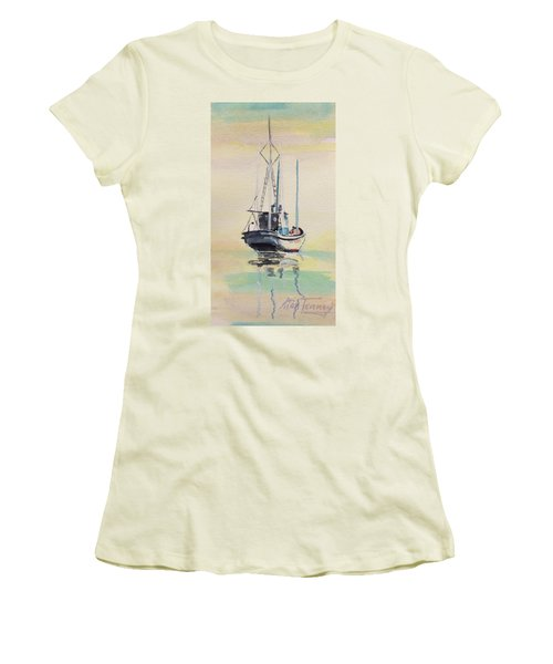 Women's T-Shirt (Junior Cut) featuring the painting Day Of Rest by Stan Tenney