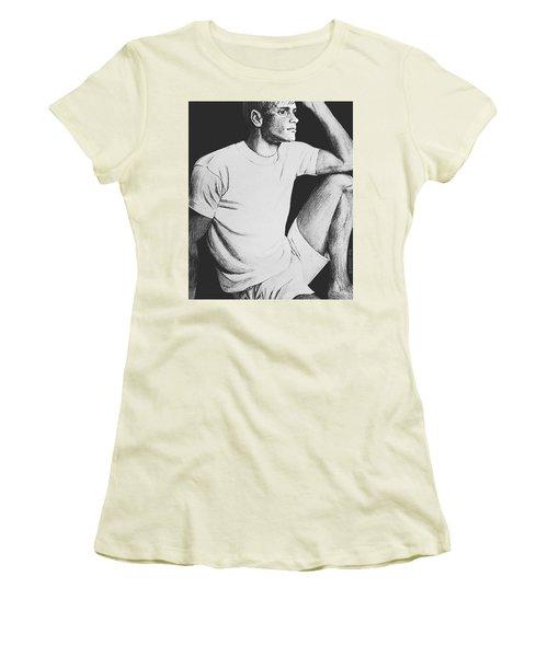 Women's T-Shirt (Junior Cut) featuring the drawing Daydreaming by Sophia Schmierer