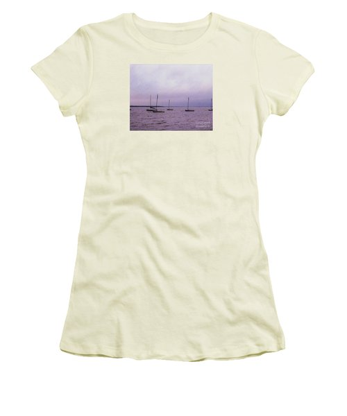 Women's T-Shirt (Junior Cut) featuring the photograph Delaware Harbor by David Jackson