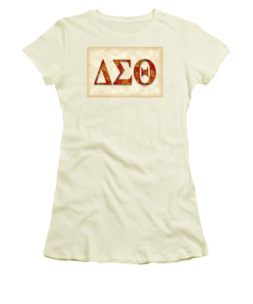Delta Sigma Theta - Parchment Women's T-Shirt (Athletic Fit)