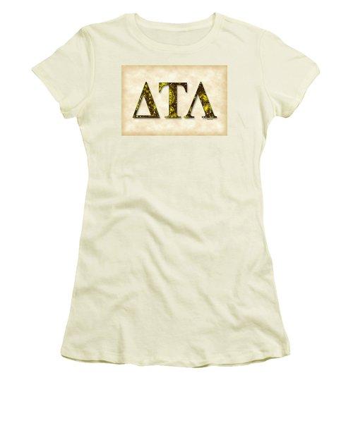 Delta Tau Lambda - Parchment Women's T-Shirt (Junior Cut) by Stephen Younts