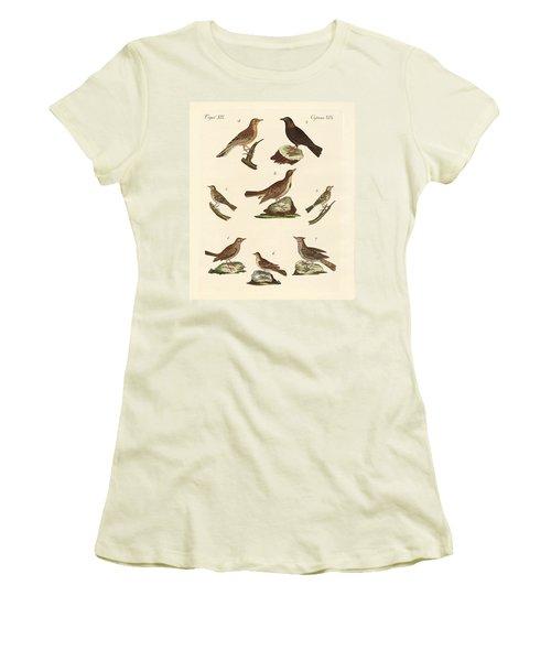 Different Kinds Of Larks Women's T-Shirt (Junior Cut) by Splendid Art Prints